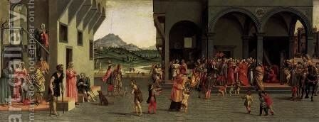 Scenes from the Story of Tobias (1) by Giuliano Bugiardini - Reproduction Oil Painting