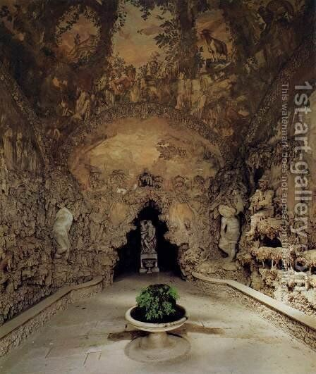The Grotto Grande by Bernardo Buontalenti - Reproduction Oil Painting