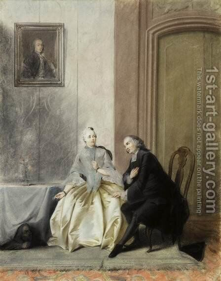 Scene from Moliere's Tartuffe by Jacobus Buys - Reproduction Oil Painting