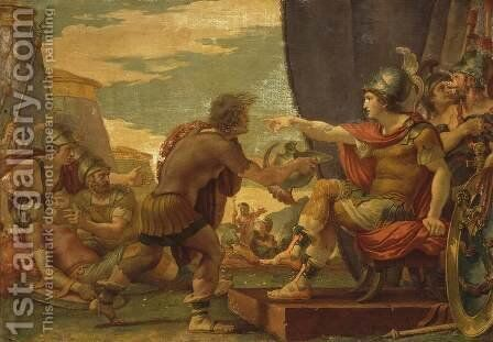Alexander the Great Refuses to Take Water by Giuseppe Cades - Reproduction Oil Painting