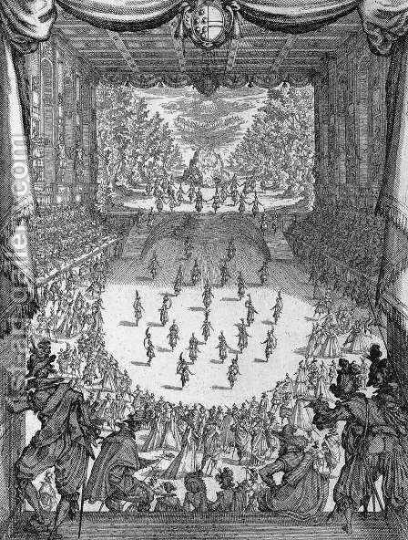 Interlude in the Medici Theater by Jacques Callot - Reproduction Oil Painting