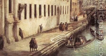 Rio dei Mendicanti (detail) 2 by (Giovanni Antonio Canal) Canaletto - Reproduction Oil Painting