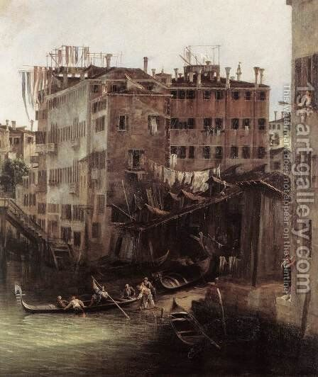 The Rio dei Mendicanti (detail) 2 by (Giovanni Antonio Canal) Canaletto - Reproduction Oil Painting