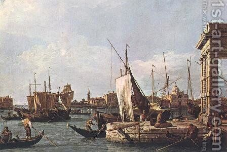 La Punta della Dogana (Custom Point) by (Giovanni Antonio Canal) Canaletto - Reproduction Oil Painting