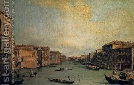 The Grand Canal 2 by (Giovanni Antonio Canal) Canaletto - Reproduction Oil Painting