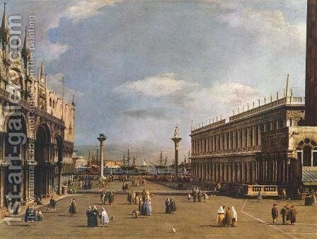 The Piazzetta 3 by (Giovanni Antonio Canal) Canaletto - Reproduction Oil Painting