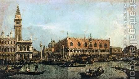 The Molo, Seen from the Bacino di San Marco by (Giovanni Antonio Canal) Canaletto - Reproduction Oil Painting