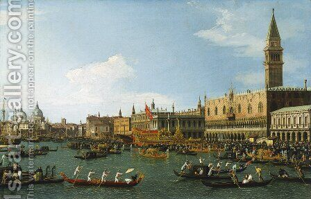 The Bucintoro, Venice by (Giovanni Antonio Canal) Canaletto - Reproduction Oil Painting