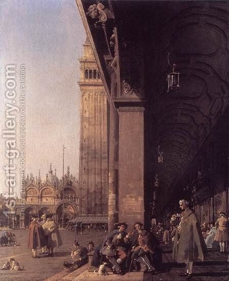 Piazza San Marco Looking East from the South West Corner 2 by (Giovanni Antonio Canal) Canaletto - Reproduction Oil Painting