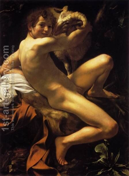 St. John the Baptist (Youth with Ram) by Caravaggio - Reproduction Oil Painting