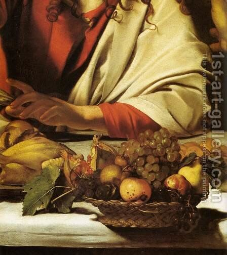Supper at Emmaus (detail) by Caravaggio - Reproduction Oil Painting