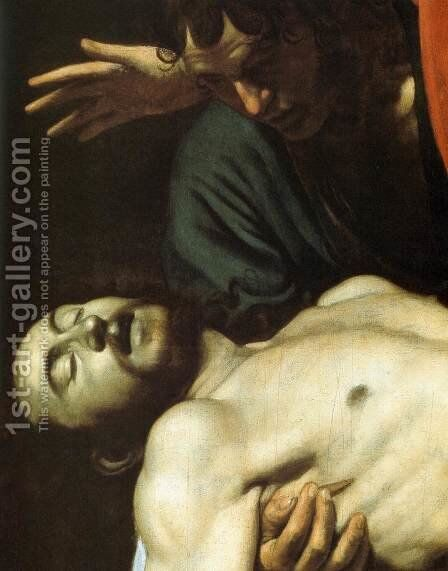 The Entombment (detail) by Caravaggio - Reproduction Oil Painting