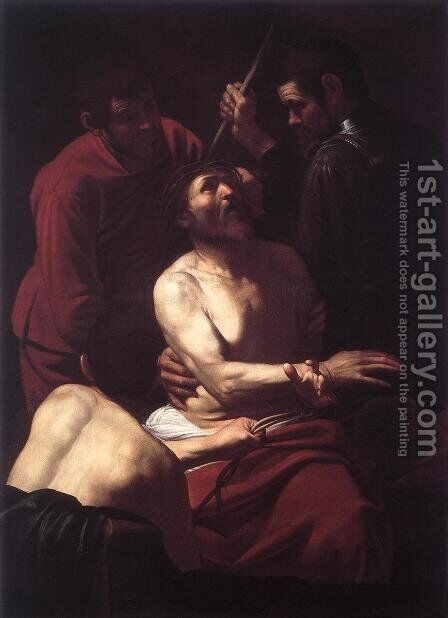 The Crowning with Thorns 2 by Caravaggio - Reproduction Oil Painting