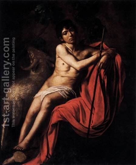 St John the Baptist by Caravaggio - Reproduction Oil Painting