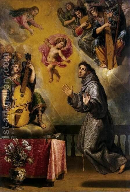 The Vision of St Anthony of Padua by Vicente Carducho - Reproduction Oil Painting