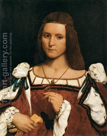 Portrait of a Woman by Giovanni Francesco Caroto - Reproduction Oil Painting