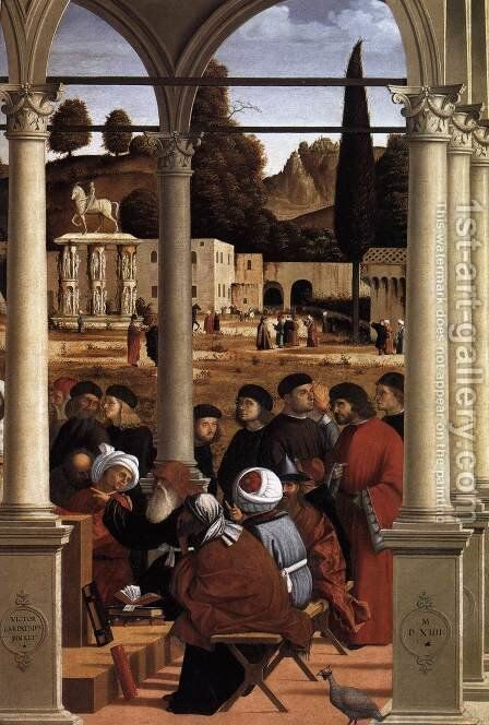 Disputation of St Stephen (detail) by Vittore Carpaccio - Reproduction Oil Painting