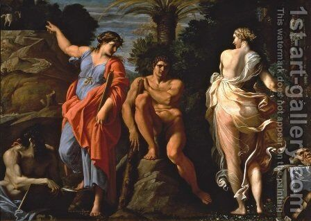 The Choice of Heracles by Annibale Carracci - Reproduction Oil Painting