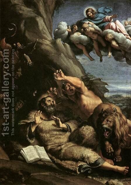 The Temptation of St Anthony Abbot by Annibale Carracci - Reproduction Oil Painting