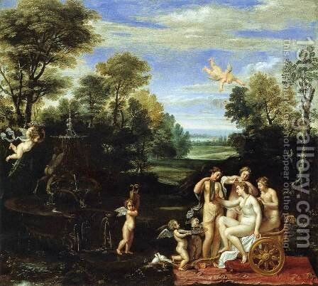 Landscape with the Toilet of Venus by Annibale Carracci - Reproduction Oil Painting