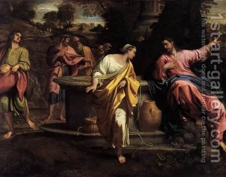 The Samaritan Woman at the Well 2 by Annibale Carracci - Reproduction Oil Painting