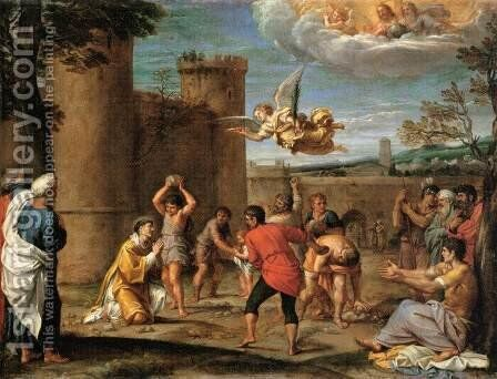 The Stoning of St Stephen by Annibale Carracci - Reproduction Oil Painting