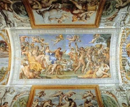 Triumph of Bacchus and Ariadne 2 by Annibale Carracci - Reproduction Oil Painting