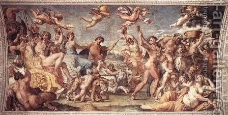 Triumph of Bacchus and Ariadne 3 by Annibale Carracci - Reproduction Oil Painting