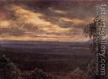 Morning Fog by Carl Gustav Carus - Reproduction Oil Painting