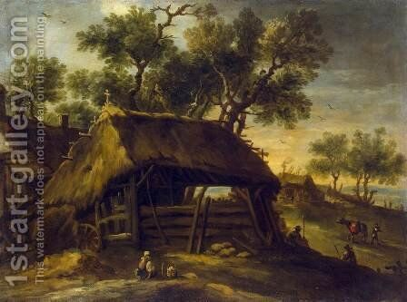 Landscape with Huts by Antonio del Castillo - Reproduction Oil Painting