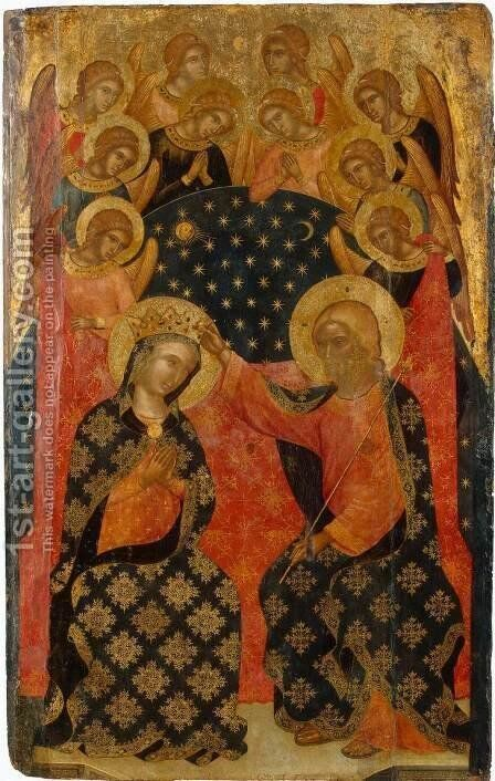 Coronation of Mary by CATARINO - Reproduction Oil Painting
