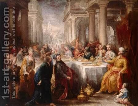 Feast of Belshazzar by Andrea Celesti - Reproduction Oil Painting