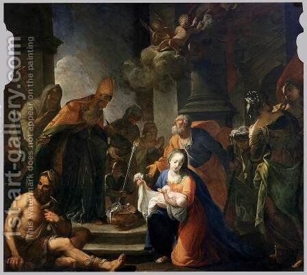 Presentation of Jesus at the Temple by Andrea Celesti - Reproduction Oil Painting