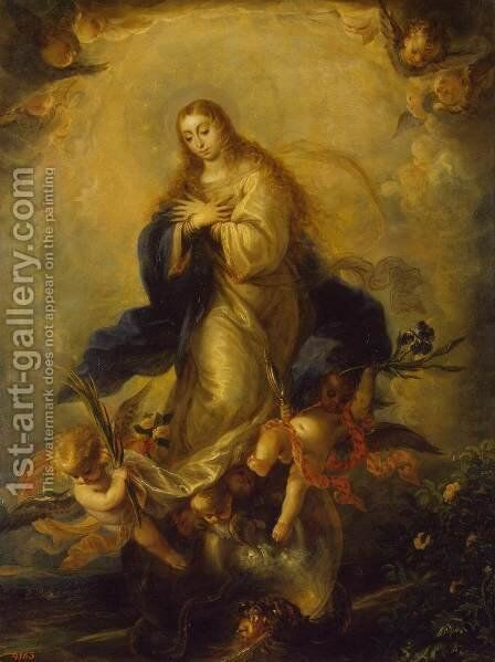 Immaculate Conception 2 by Mateo the Younger Cerezo - Reproduction Oil Painting