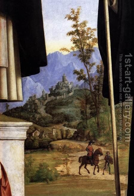 St Peter Martyr with St Nicholas of Bari, St Benedict and an Angel Musician (det by Giovanni Battista Cima da Conegliano - Reproduction Oil Painting