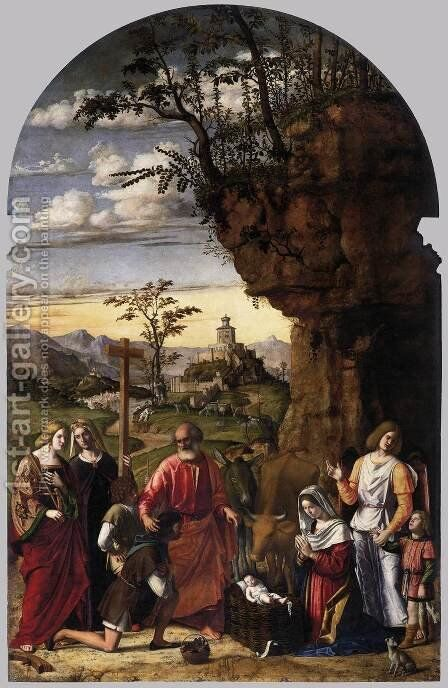 Adoration of the Shepherds by Giovanni Battista Cima da Conegliano - Reproduction Oil Painting
