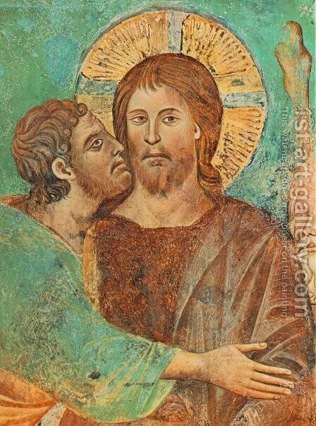 The Capture of Christ (detail) by (Cenni Di Peppi) Cimabue - Reproduction Oil Painting