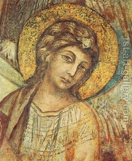 Madonna Enthroned with the Child, St Francis and four Angels (detail) by (Cenni Di Peppi) Cimabue - Reproduction Oil Painting