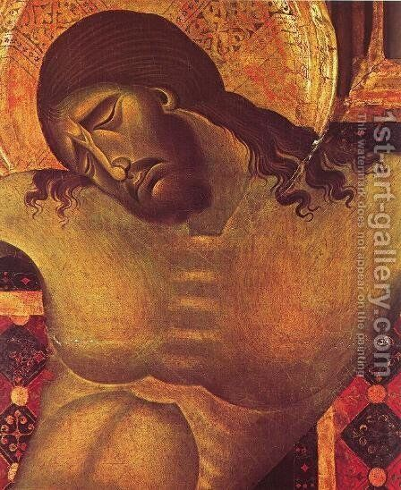 Crucifix (detail) 3 by (Cenni Di Peppi) Cimabue - Reproduction Oil Painting