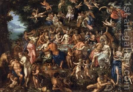 The Nuptials of Thetis and Peleus by Hendrick De Clerck - Reproduction Oil Painting