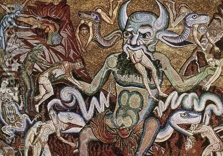 The Hell (detail) by Coppo Di Marcovaldo - Reproduction Oil Painting