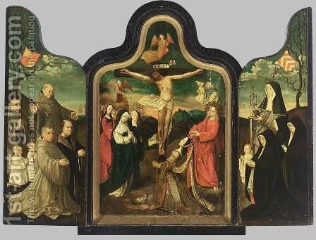 Triptych 2 by Jacob Cornelisz Van Oostsanen - Reproduction Oil Painting