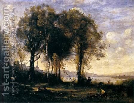 Goat-herds by Jean-Baptiste-Camille Corot - Reproduction Oil Painting