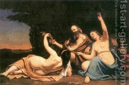 Lot and His Daughters by Gustave Courbet - Reproduction Oil Painting