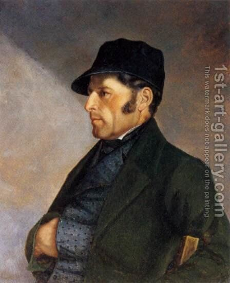 Portrait of Regis Courbet by Gustave Courbet - Reproduction Oil Painting