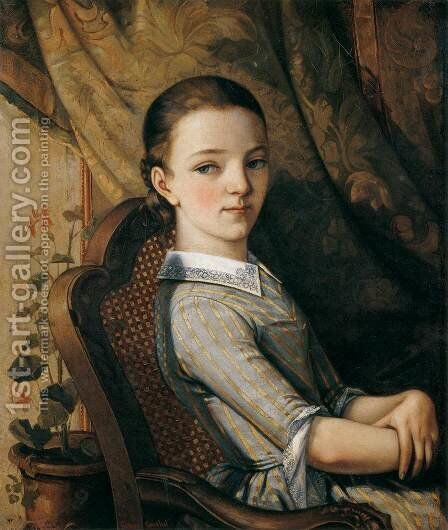 Portrait of Juliette Courbet by Gustave Courbet - Reproduction Oil Painting