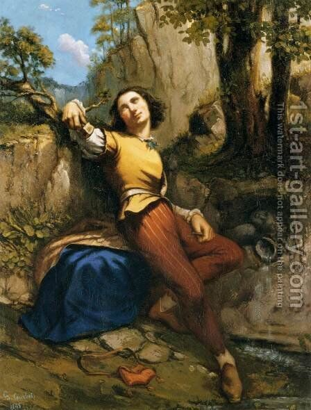 The Sculptor by Gustave Courbet - Reproduction Oil Painting