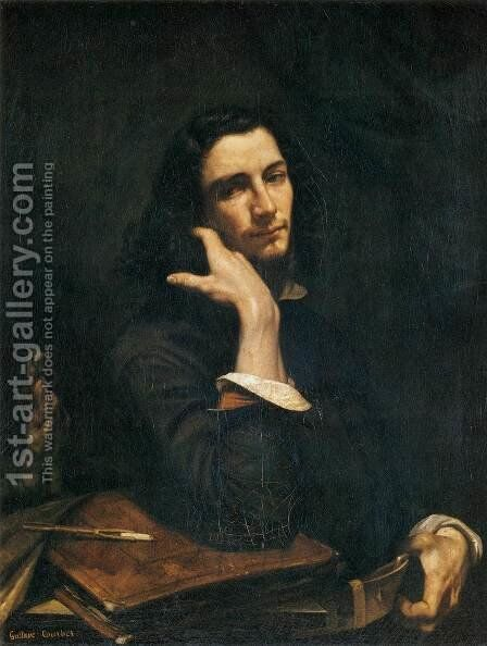 Self-Portrait (Man with Leather Belt) by Gustave Courbet - Reproduction Oil Painting