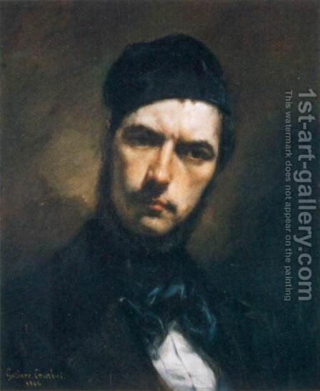 Portrait of H. J. van Wisselingh by Gustave Courbet - Reproduction Oil Painting