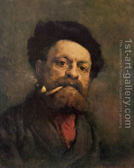 Man with Pipe by Gustave Courbet - Reproduction Oil Painting